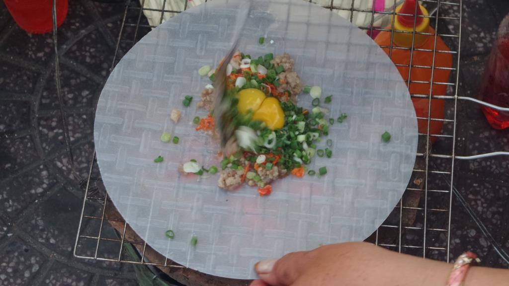 quail egg pancake