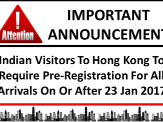 Pre-Registration Of Indian Visitors to Hong Kong