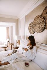 Chantra Suite_Sgabfri-La Hotel, Bangkok_Bedroom