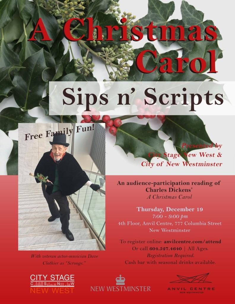 Anvil 2019 A Christmas Carol poster