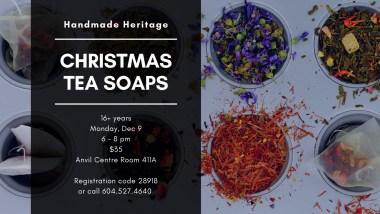 Handmade Heritage Christmas Tea Soaps