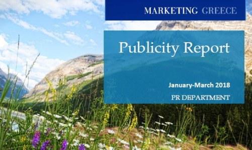 Marketing Greece: Ο απολογισμός δημοσιότητας Ιανουαρίου – Μαρτίου 2018