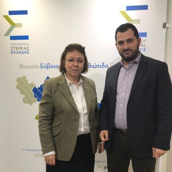 Η Υπουργός Πολιτισμού κ. Λίνα Μενδώνη με τον Περιφερειάρχη Στερεάς Ελλάδος κ. Φάνη Σπανό