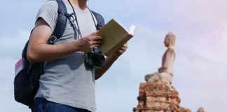 lezen bij boeddha