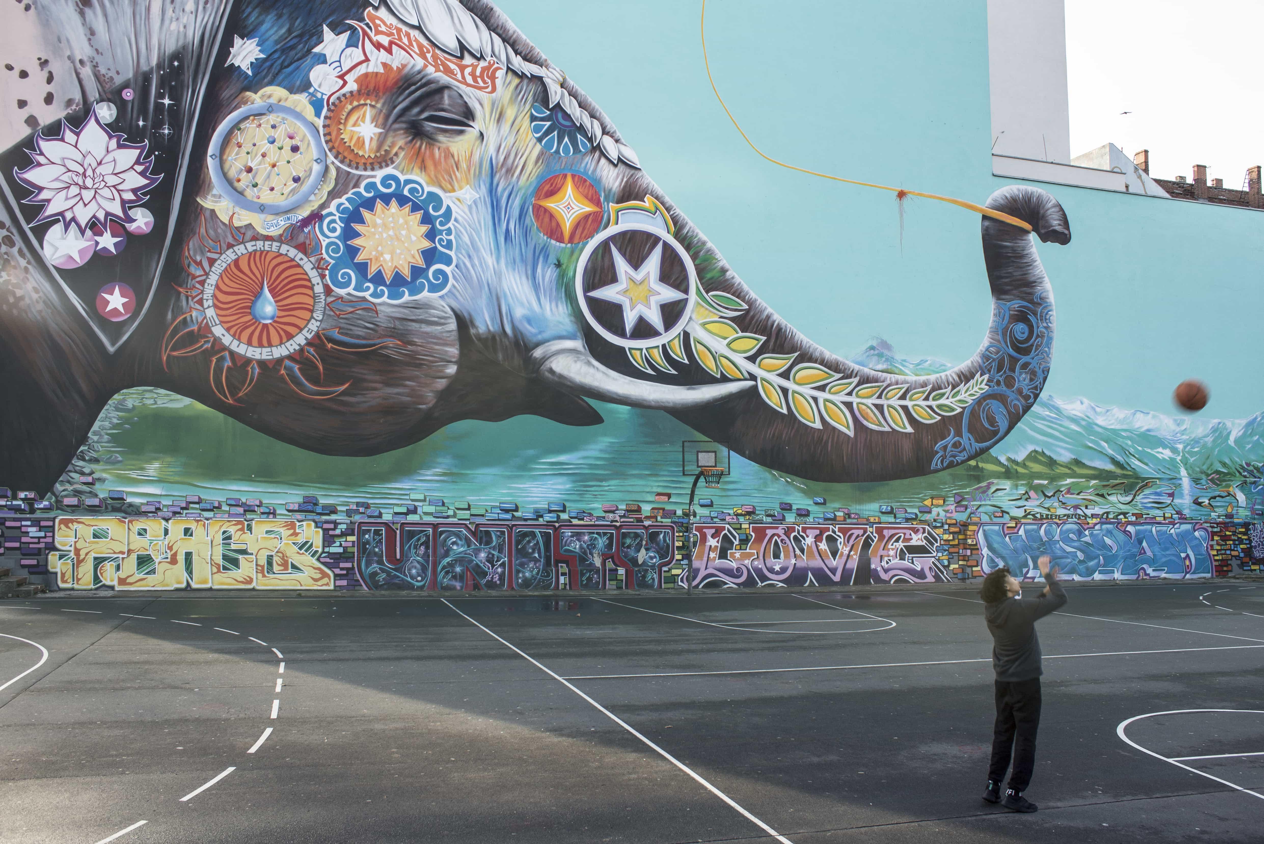 Muurschildering Kreuzberg