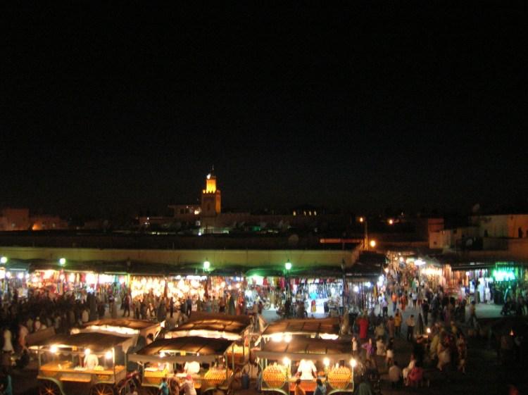 la place jema el fna Marrakech