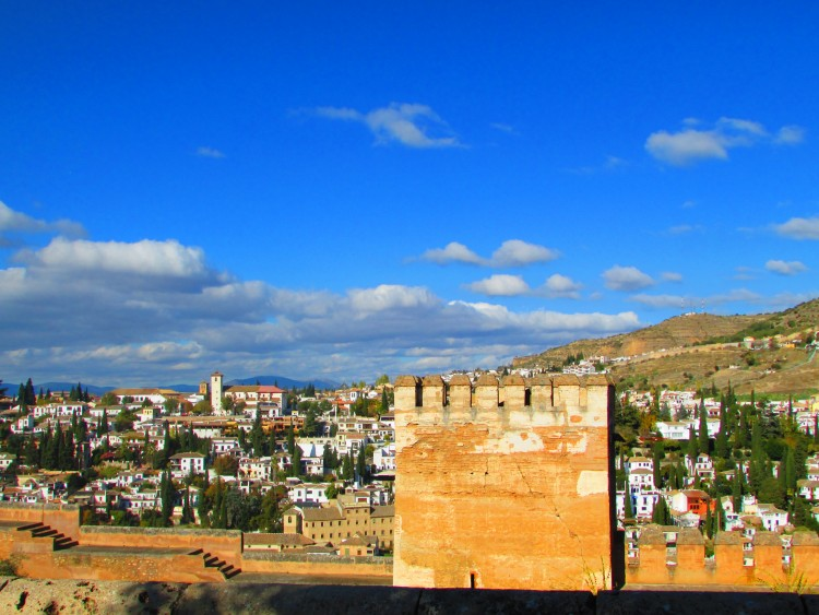Alhambra à Grenade en Andalousie