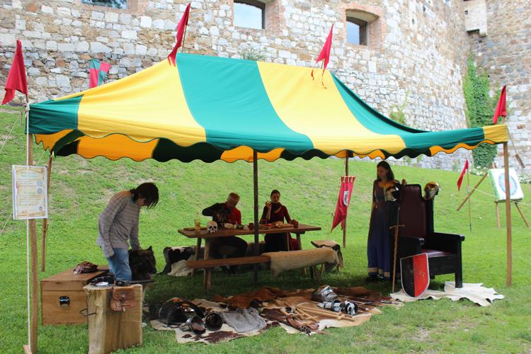 fête médiévale au château de Ljubljana