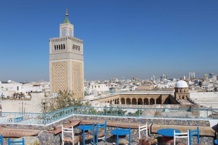 La mosquée Zitouna à Tunis