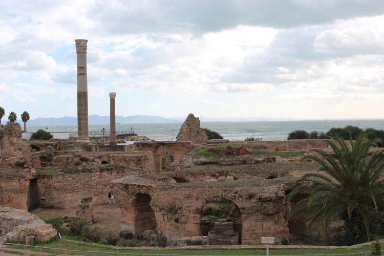 Les thermes d'Antonio à Carthage en Tunisie