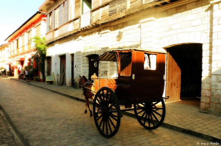 Calle Crisologo Vigan Ilocos Sur Philippines