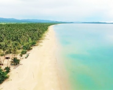 Drone Video of The Longest White Beach in the Philippines