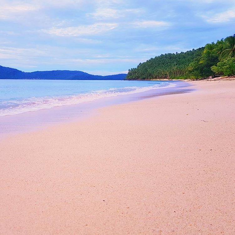 Pink Beach Sila Island Northern Samar