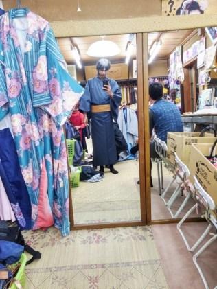 ganti outfit di kyoto