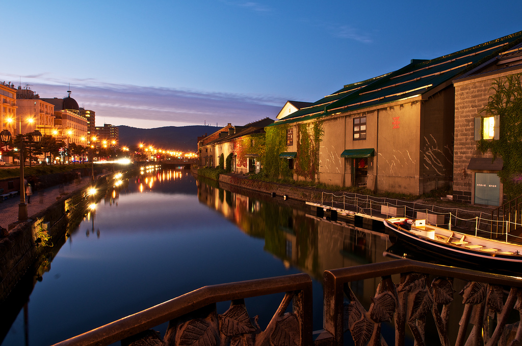 Kota Otaru Kanal di Hokkaido Jepang