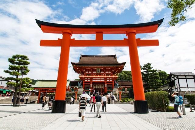 Tori Gerbang Fushimi Inari Taisha Kyoto Jepang