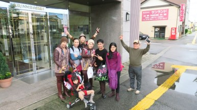 peserta tour jepang di tetayama alpine route