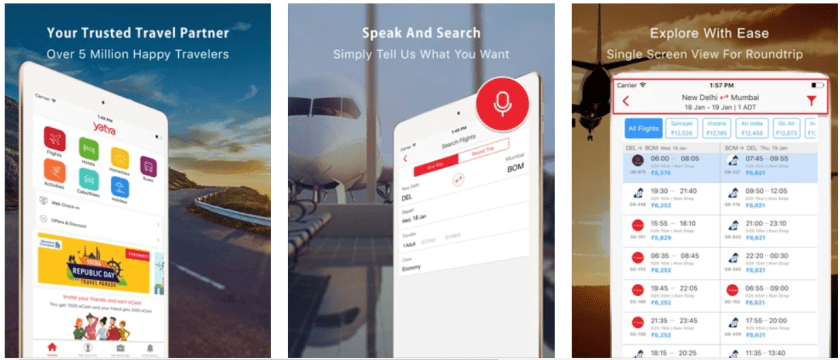 Yatra Indian Travel Apps