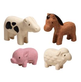 Le set de 4 animaux de la ferme