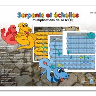 Serpents et échelles - Multiplications de 1 à 12