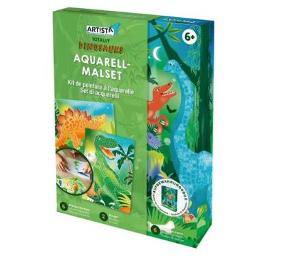 Kit de peinture à l'aquarelle dinosaure