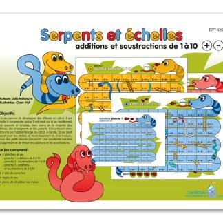 Serpents et échelles - Additions et soustractions 1 à 10