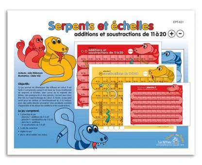 Serpents et échelles - Additions et soustractions 11 à 20