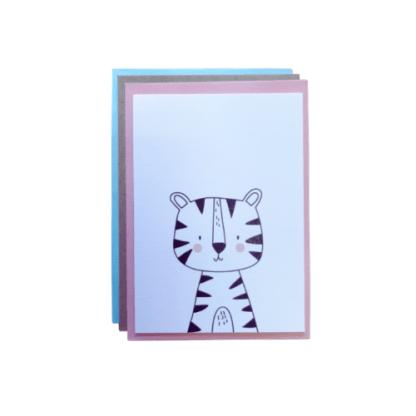 Carte de voeux - tigre