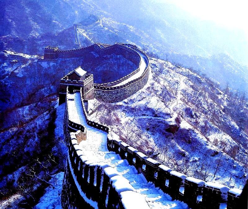великая стена зимой