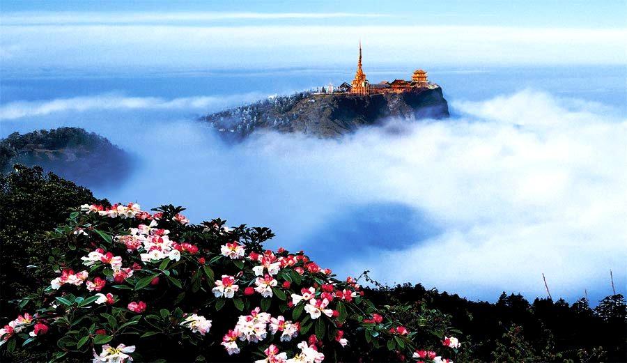 горы Эмэй в тумане