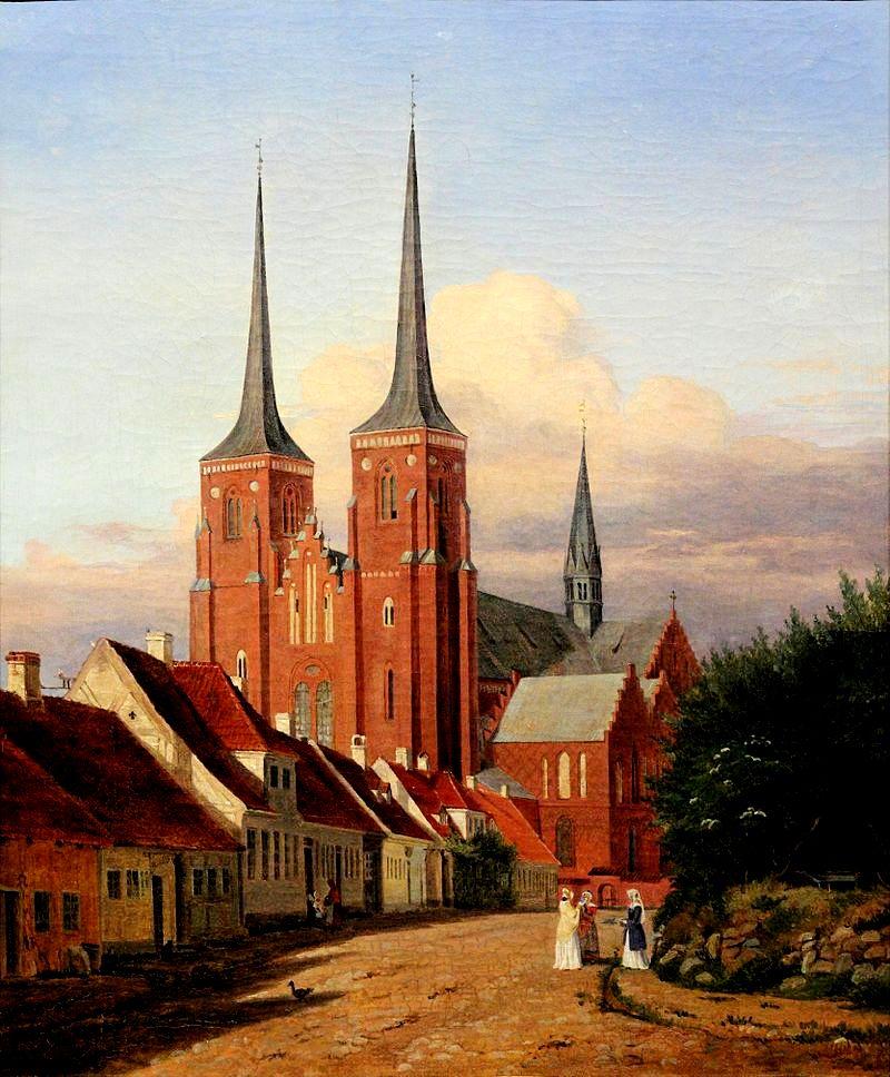 собор в роскилле, гравюра