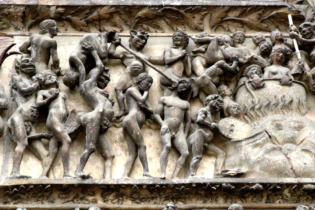 картина ада в буржском соборе