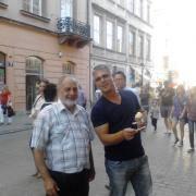 נועם לניר עם המדריך של TOUR POLAND בקרקוב