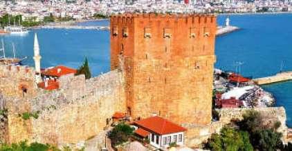 Red Tower (Kızıl Kule) in Alanya, Antalya