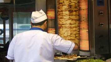 Turkish Chicken Doner Kebab