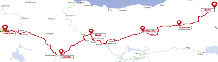 Eastern Express Turkey Route Map