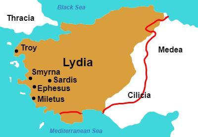 Location of Troy on Anatolia