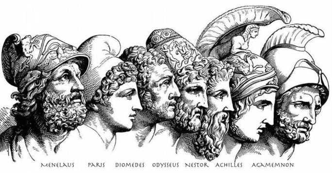 Main Characters in Iliad Epic