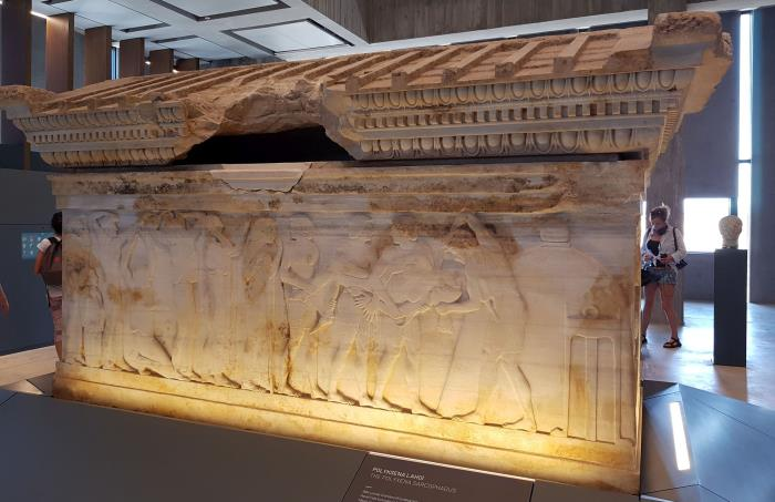 Polyxena Sarcophagus in Troy Museum