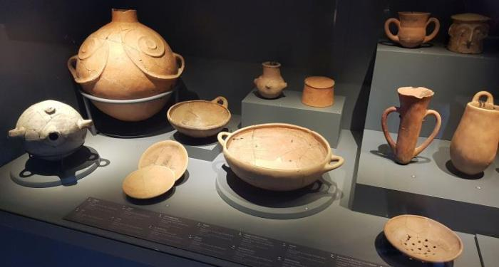 Pottery Artifacts Which Were Found in Troy and exhibited in Troy Museum