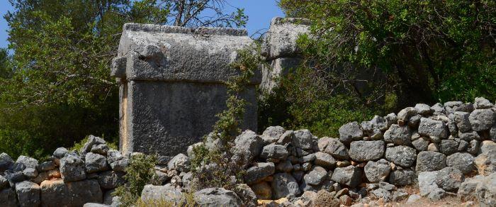 Lycian tombs in Aperlai
