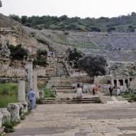 Theatre is the place where Paul preached in Ephesus