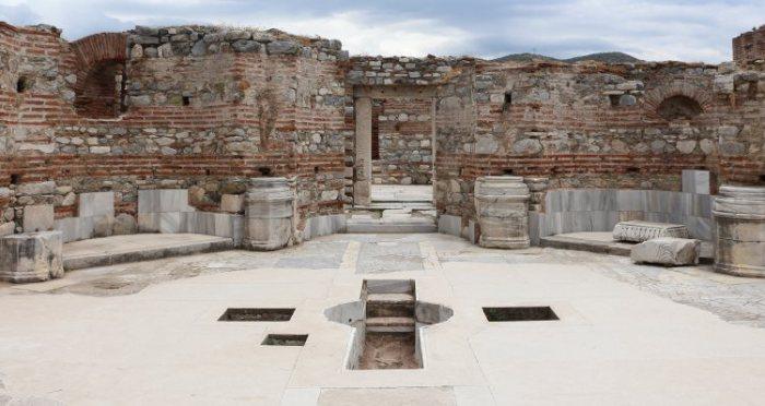Baptising Pool at the Basilica of Saint John the Evengelist Nearby Ephesus