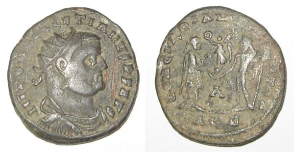 Coin Issued in the Name of Emperor Diocletian