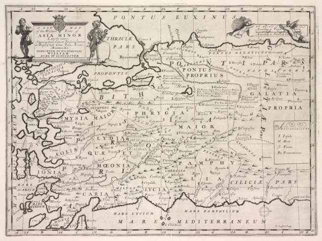 Map Of Asia Minor by Sheldonian Theatre, 1727