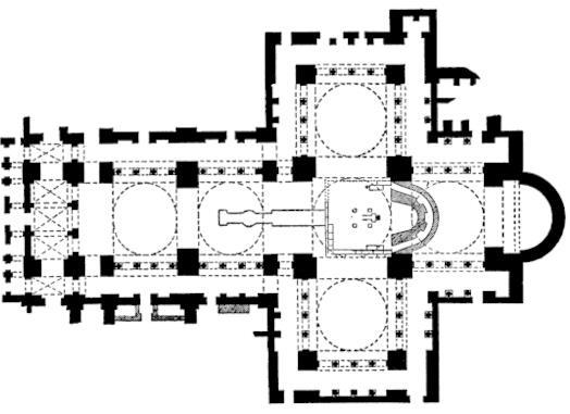Plan of the Basilica of Saint John Nearby Ephesus