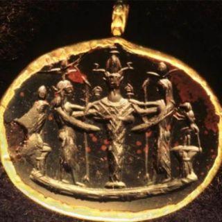 A protective Ephesia Grammata enchanted amulet