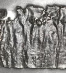 A leather piece found with Ephesia Grammata inscription