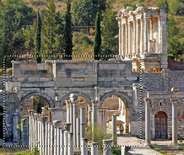 Mazeus and Mithridates Gate As It Seem From the Tetraganos Agora of Ephesus