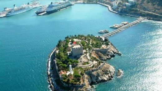 Pigeon Island Next to Port of Kusadasi